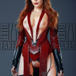 Elizabeth Olsen Faked Nude As Scarlet Witch With Her Private Parts Exposed