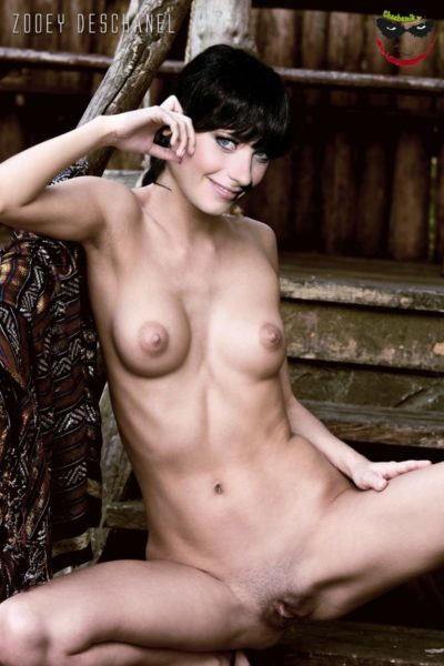 zoeey deschanel nude fake posing outside with spreaded legs