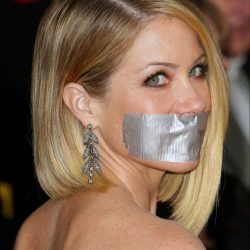 Christina Applegate tape gagged